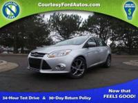 This Focus is equipped with Leather Seats, SE