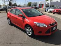 New Price! CARFAX One-Owner. Red 2013 Ford Focus SE FWD