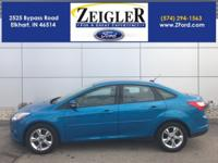 New Price! Blue Candy Metallic 2013 Ford Focus SE SYNC,