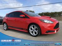 CARFAX One-Owner. Race Red 2013 Ford Focus ST FWD