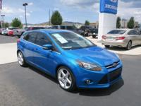CARFAX One-Owner. 2013 Ford Focus Titanium Light Blue