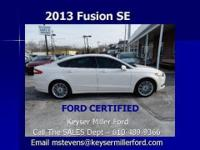 White lightning! This beautiful 2013 Fusion comes to