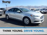 CARFAX One-Owner. Silver 2013 Ford Fusion S FWD 6-Speed