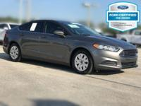 Clean CARFAX. Certified. Sterling Gray 2013 Ford Fusion