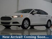 2013 Ford Fusion S in Oxford White, This Fusion comes