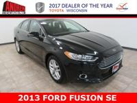 Black 2013 Ford Fusion SE|DEALER MAINTAINED, LOCALLY