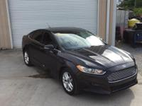 CARFAX One-Owner. Black 2013 Ford Fusion SE FWD 6-Speed