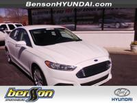 CLEAN CARFAX, CARFAX CERTIFIED, and NEW TIRES. Fusion