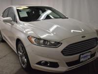 White Platinum Tri-Coat Metallic 2013 Ford Fusion