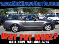 2013 FORD MUSTANG CONVERTIBLE V6 AUTOMATIC STERLING