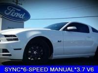 SYNC*6-SPEED MANUAL*3.7 V6*THIS MUSTANG IS VERY CLEAN