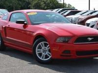 2013 Ford Mustang V6 Race Red. Race Red and Charcoal