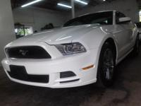 LOVELY WHITE WITH A BLACK LEATHER INTERIOR FORD MUSTANG