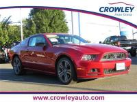 Clean CARFAX. Red 2013 Ford Mustang V6 RWD 6-Speed 3.7L