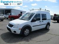 Frozen White 2013 Ford Transit Connect XLT FWD 4-Speed