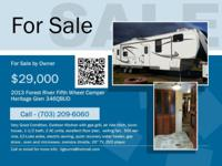 2013 Forest River Fifth Wheel Camper. Heritage Glen