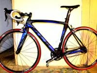 54 cm C5 hi-mod carbon frame with tapered head tube,