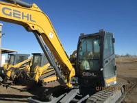 2013 Gehl Z80 2013 GH Z80 Gehl Excavator Z80 Cab W/heat