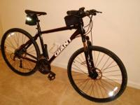 Giant Roam,  This bike has a front suspension with lock