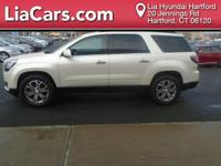 2013 GMC Acadia in White. FWD and Cloth. Reset your