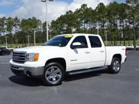 Clean CARFAX. Summit White 2013 GMC Sierra 1500 SLT 4WD