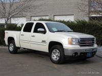 2013 Sierra Crew Cab 4x4 in diamond white with black