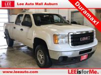2013 GMC Sierra 2500HD Work Truck White USB/AUX Port,