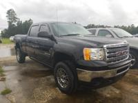 Certified. Onyx Black 2013 GMC Sierra 2500HD SLE 4WD