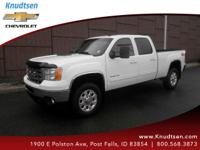 Options:  2013 Gmc Sierra 2500Hd Slt|White|Ebony