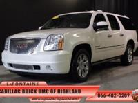 2013 GMC Yukon XL Denali in White Diamond Tricoat and