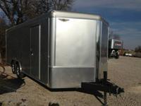 2013 H&H 101x20' V-Nose Cargo, Silver, 5200# torsion