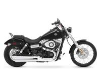 And in the back the Harley Wide Glide model features a