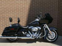 The Harley Road Glide Custom model features an