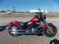The Softail FLS model sports blacked-out features and