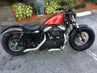 Bikes Sportster 1210 PSN. the front end of the bike