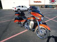 The Harley Street Glide FLHX design has a 2-1-2