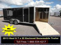 2013 Haul It 7x22 Enclosed Snowmobile Trailer for sale