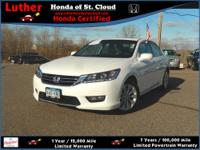 Honda Certified, CARFAX 1-Owner, GREAT MILES 11,160!