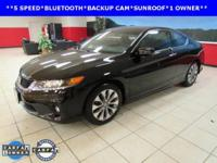 ONE OWNER, BACKUP CAM, BLUETOOTH, Accord EX, Black