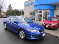 HONDA CERTIFIED 2013 ACCORD EX-L COUPE, ONE OWNER,