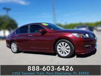 CARFAX One-Owner. Clean CARFAX. Red 2013 Honda Accord