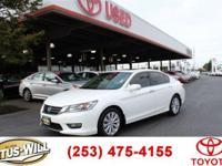 2013 Honda Accord EX-L White Recent Arrival! Clean