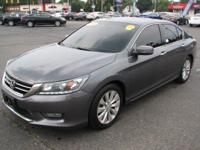 This 2013 Honda Accord is available in EX-L trim.