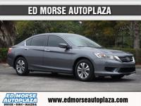 Delight in the open road in this 2013 Honda Accord LX,