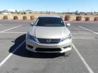 New Price! Cloth. Gold 2013 Honda Accord LX 4D Sedan