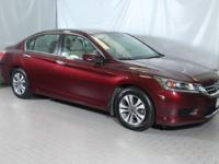 Basque Red Pearl 2013 Honda Accord LX FWD CVT 2.4L I4