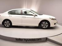 This clean CARFAX 2013 Honda Accord LX 2.4L has alloy