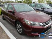 ONE-OWNER, CLEAN CARFAX, and HONDA CERTIFIED. Accord LX