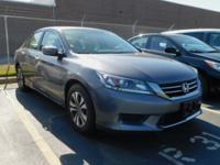 Recent Arrival! This 2013 Honda Accord LX in Gray