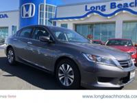 ADULT OWNED WITH LOW LOW MILES!!!! Long Beach Honda is